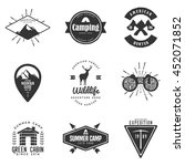 set of handdrawn adventure logo ... | Shutterstock .eps vector #452071852