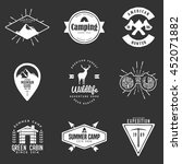 set of handdrawn adventure logo ... | Shutterstock .eps vector #452071882