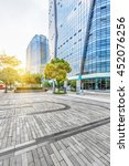 empty pavement and modern... | Shutterstock . vector #452076256