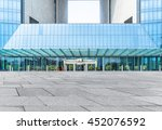 modern building entrance blue... | Shutterstock . vector #452076592