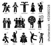positive personalities... | Shutterstock .eps vector #452080228