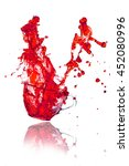 drink red splash out of glass... | Shutterstock . vector #452080996