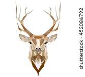 deer. low poly deer. low poly... | Shutterstock .eps vector #452086792