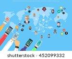 vector businessman... | Shutterstock .eps vector #452099332