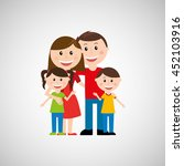 members of the family design ... | Shutterstock .eps vector #452103916