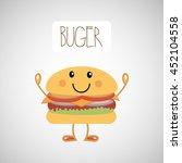 fast food menu design  vector... | Shutterstock .eps vector #452104558