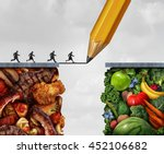 changing to vegan and... | Shutterstock . vector #452106682