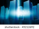illustration of multi storey... | Shutterstock . vector #45212692