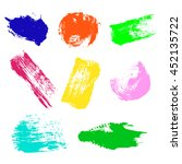 raster set of colorful... | Shutterstock . vector #452135722