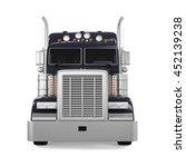 black trailer truck. 3d...   Shutterstock . vector #452139238