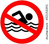 No Swimming Hazard  Warning Sign