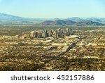 downtown phoenix  arizona  with ... | Shutterstock . vector #452157886