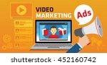 viral video marketing youtube... | Shutterstock .eps vector #452160742
