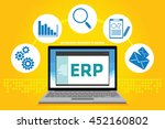 erp enterprise resource planning | Shutterstock .eps vector #452160802