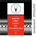 logo antelope. abstract... | Shutterstock .eps vector #452161342