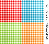 set of tablecloths seamless... | Shutterstock .eps vector #452162176