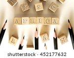 africa word written on building ...   Shutterstock . vector #452177632