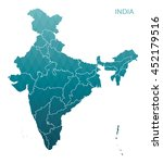 map of india | Shutterstock .eps vector #452179516