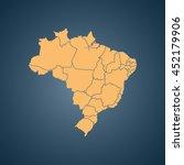 map of brazil   Shutterstock .eps vector #452179906