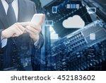 double exposure of professional ... | Shutterstock . vector #452183602