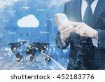 double exposure of professional ...   Shutterstock . vector #452183776
