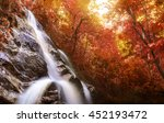beautiful autumn waterfall... | Shutterstock . vector #452193472