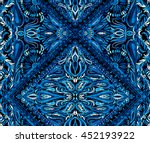 seamless boho pattern with... | Shutterstock . vector #452193922