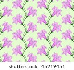 beautiful pink flower lily card ... | Shutterstock .eps vector #45219451