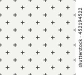 hand drawn geometric seamless... | Shutterstock .eps vector #452194522