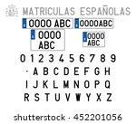 spanish license plates | Shutterstock .eps vector #452201056