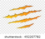 claws scratching animal trails... | Shutterstock .eps vector #452207782