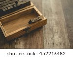 english rubber stamps the word... | Shutterstock . vector #452216482