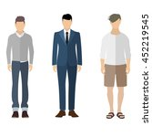 three men flat style icon... | Shutterstock .eps vector #452219545