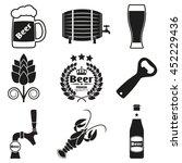 beer icon set with beer bottle  ... | Shutterstock .eps vector #452229436