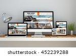 a computer  laptop  smartphone... | Shutterstock . vector #452239288