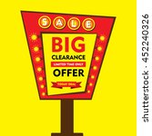 big clearance offer  limited... | Shutterstock .eps vector #452240326