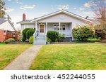 beige siding house exterior...   Shutterstock . vector #452244055