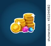 cartoon gold coins with...