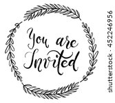 you are invited to the party.... | Shutterstock .eps vector #452246956