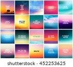 big set of 20 square blurred...   Shutterstock .eps vector #452253625