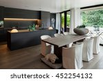 modern dining room with table... | Shutterstock . vector #452254132