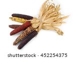 Cob Corn Indian Isolated On...
