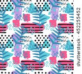 vector summer pattern with palm ... | Shutterstock .eps vector #452255452