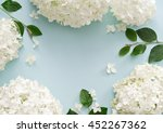 Flat Lay Image Of Flowers On...