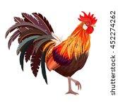 detailed lovely cockerel for... | Shutterstock .eps vector #452274262