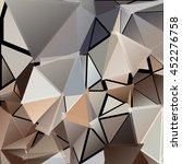 randomly scattered triangles of ... | Shutterstock .eps vector #452276758