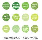 vector set of healthy organic... | Shutterstock .eps vector #452279896