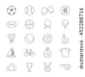 sport icons line set of vector... | Shutterstock .eps vector #452288716