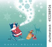cute santa claus sits in... | Shutterstock .eps vector #452288926