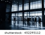 silhouettes of people in modern ... | Shutterstock . vector #452295112